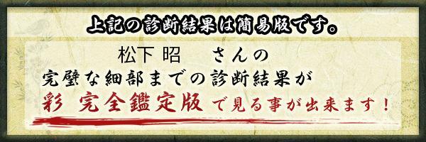 松下 昭さんの診断結果 - 姓名判断 彩