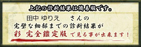 田中 ゆりえさんの診断結果 - 姓名判断 彩